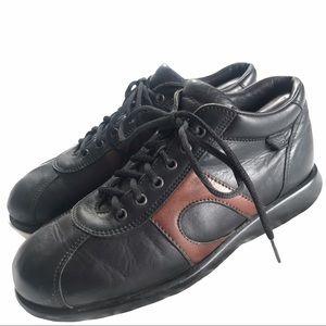 Men's FRAU Black Leather Shoes - 9